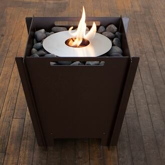 Steel Bioethanol Fire Pit by Groovebox