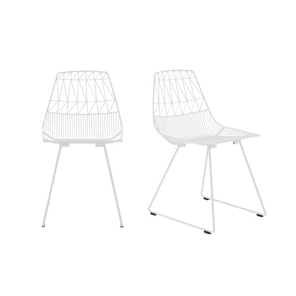 Lucy Metal Slat Back Side Chair by Bend Goods Bend Goods