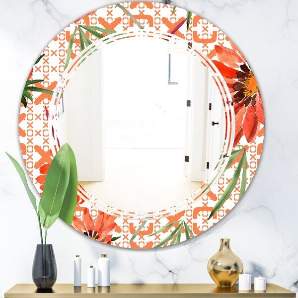 Triple C Floral Botanical I Cottage Americana Frameless Wall Mirror