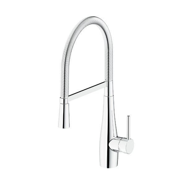 Rhapsody Pull Down Single Handle Kitchen Faucet by Safavieh