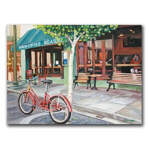 Coffee Shop by Colleen Proppe Painting Print on Canvas by Trademark Fine Art