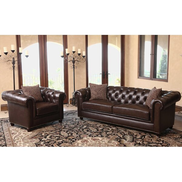 Mitchem 2 Piece Leather Living Room Set by Darby Home Co