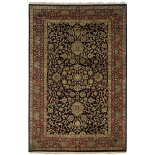 Read Reviews Wadgaon Hand-Knotted Black Area Rug ByMeridian Rugmakers