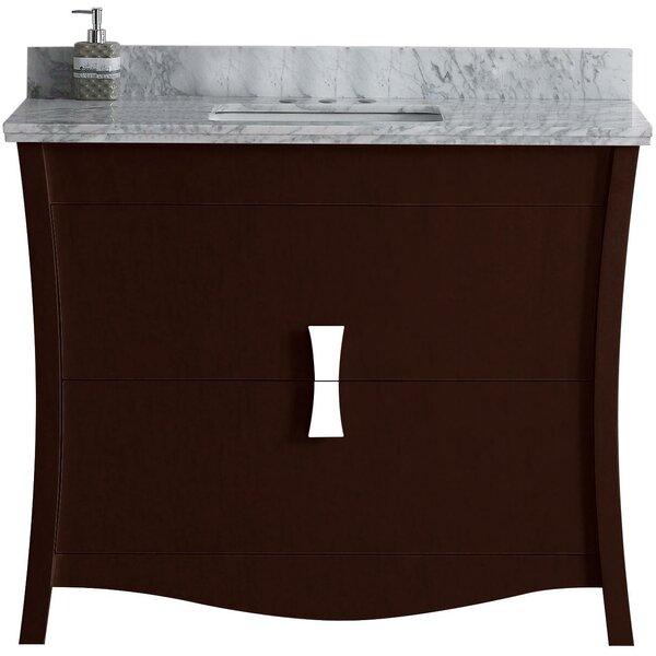 Cataldo Floor Mount 48 Single Bathroom Vanity Set with 4 Centers Faucet Mount by Royal Purple Bath Kitchen