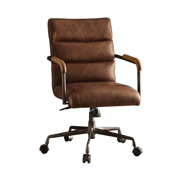 harith high back leather executive chair reviews allmodern