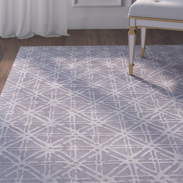 Gloria Hand-Tufted Gray/Silver Area Rug by House of Hampton