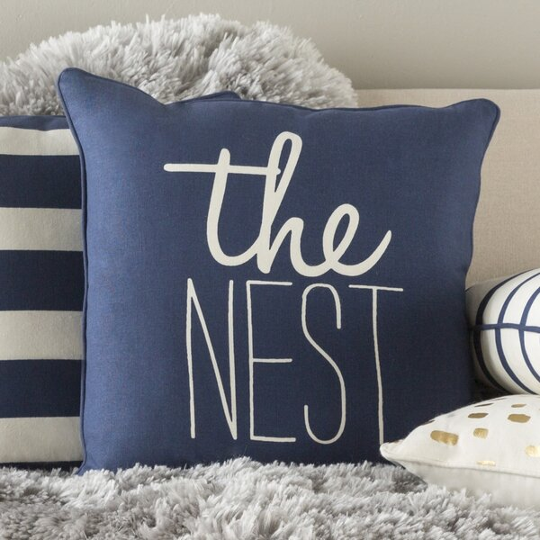 Carnell The Nest Cotton Throw Pillow by Mercury Row