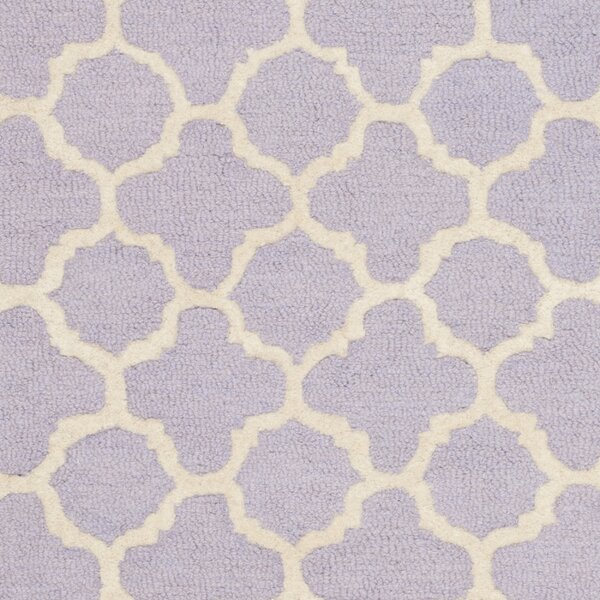 Martins Hand-Tufted Wool Lavander/Ivory Area Rug by Wrought Studio
