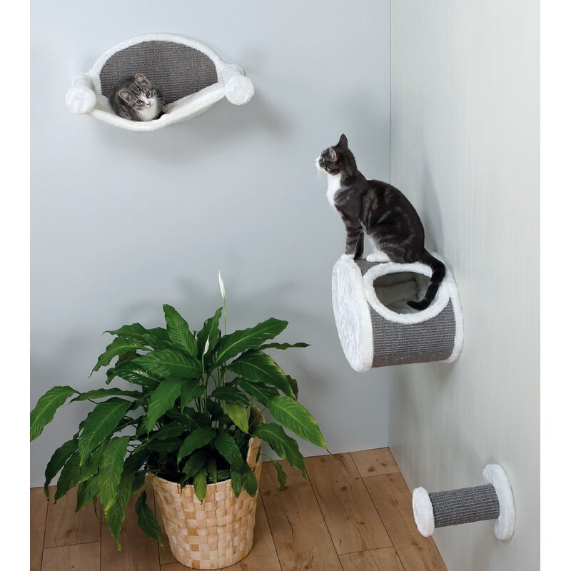 4 Piece Wall-Mounted Cat Lounging Set
