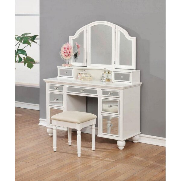 Farview Vanity Set with Mirror by Rosdorf Park