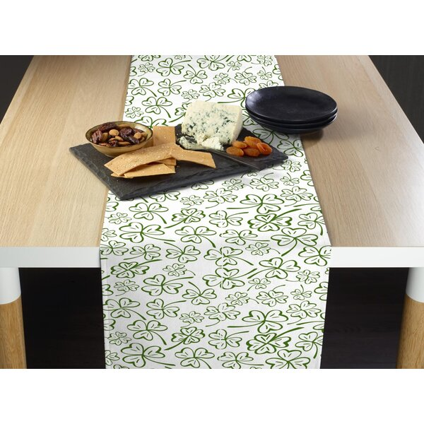 Enright Clovers Table Runner by The Holiday Aisle