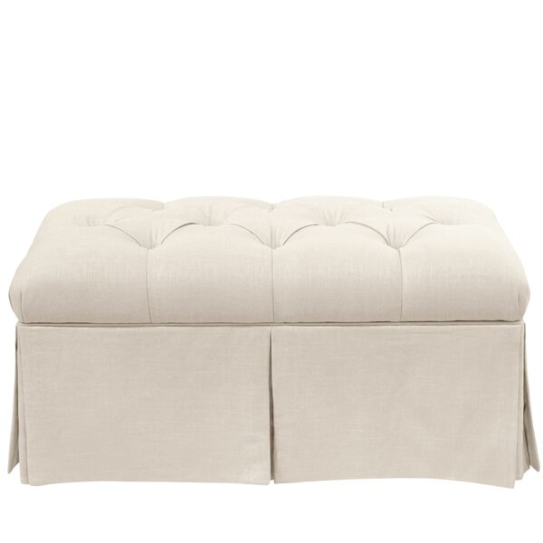 Craven Tufted Linen Skirted Storage Bench by Alcott Hill Alcott Hill