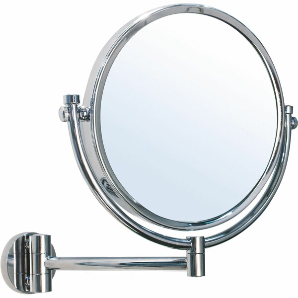 Hummer Round Double-Sided Makeup/Shaving Mirror by Alcott Hill