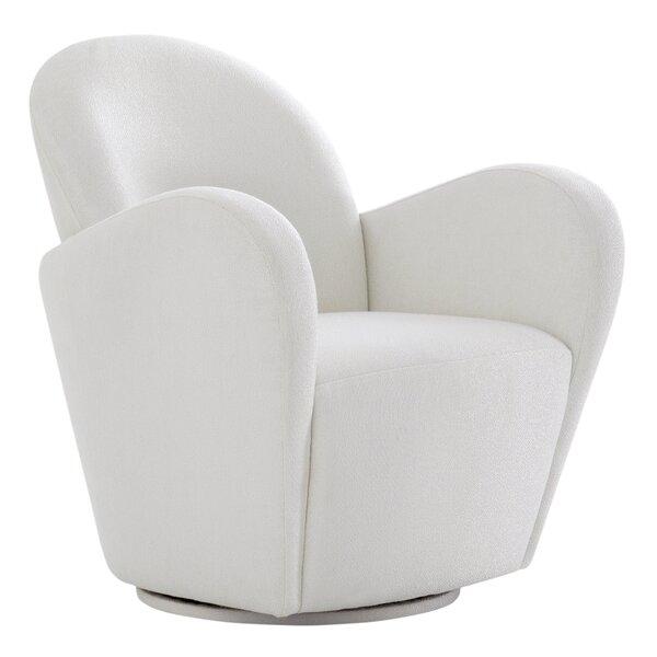 Elena Swivel 21.6-inch Armchair by Pasargad Pasargad