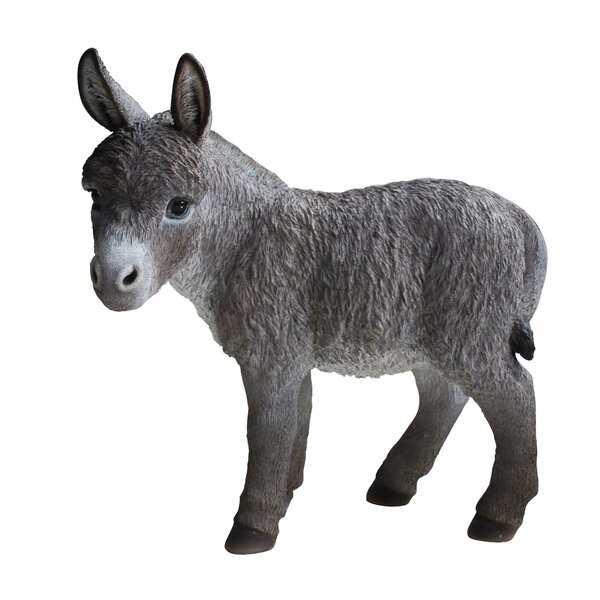 Standing Donkey Statue by Hi-Line Gift Ltd.