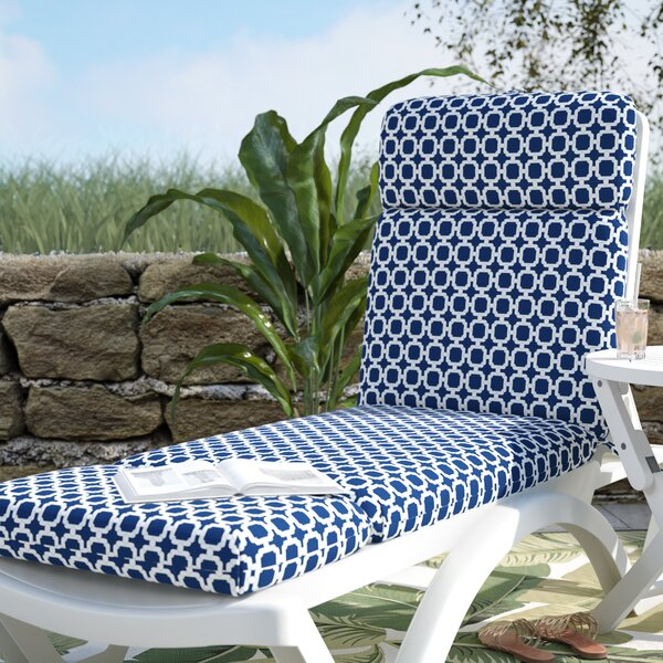 Indoor/Outdoor Chaise Lounge Cushion by Beachcrest Home