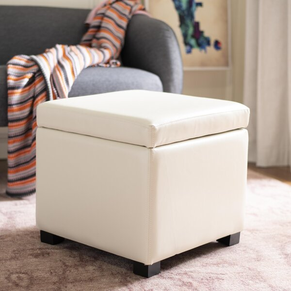 Jonathan Leather Storage Ottoman by Safavieh