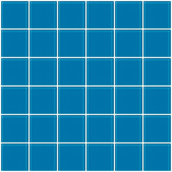 Bijou 22 2 x 2 Glass Mosaic Tile in Turquoise Blue by Susan Jablon