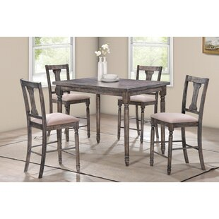 Preslar 5 Piece Counter Height Dining Set By One Allium Way