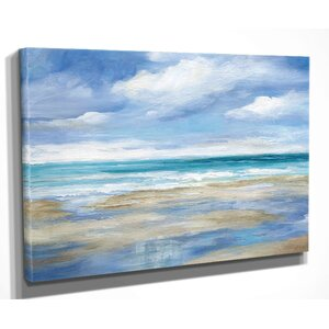 'Washy Coast I' by Nan Painting Print on Wrapped Canvas by Wexford Home