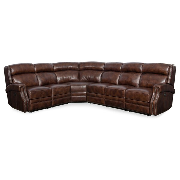 Great Deals Skakli Leather Right Hand Facing Reclining Sectional