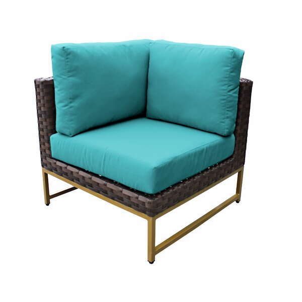 Sumpter Patio Chair with Cushions by Wrought Studio