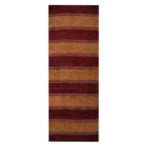 Ry Hand-Woven Wool Red/Gold Area Rug by Latitude Run
