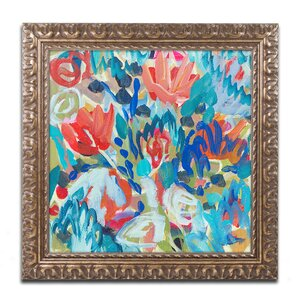'Asana' Framed Painting Print by Trademark Fine Art