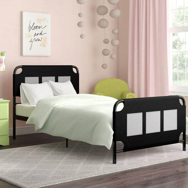Hackett Metal Twin Platform Bed with Storage Pockets by Zoomie Kids