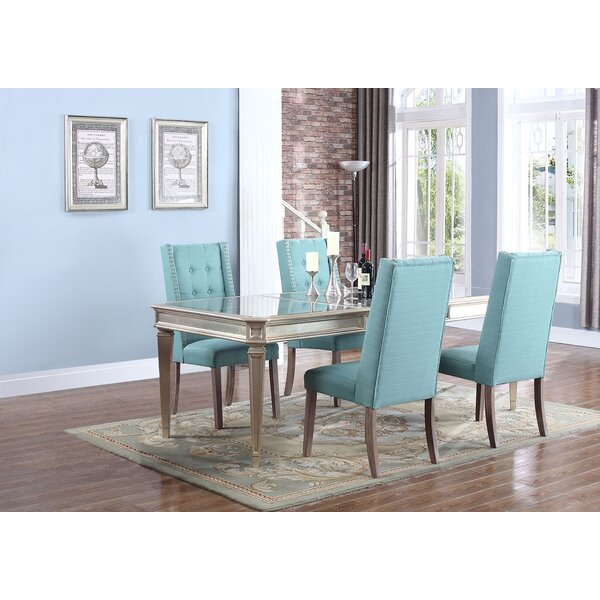 Brette 5 Piece Solid Wood Dining Set by Willa Arlo Interiors