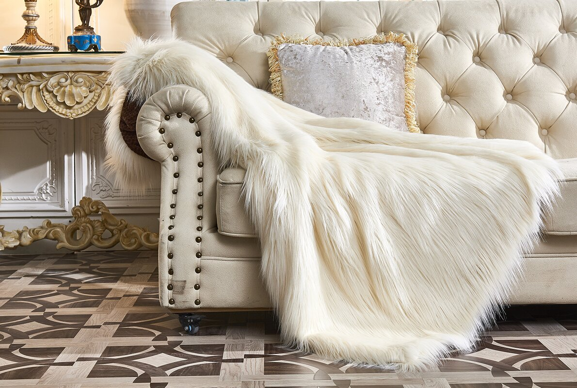 Jansen Bear Faux Fur Throw