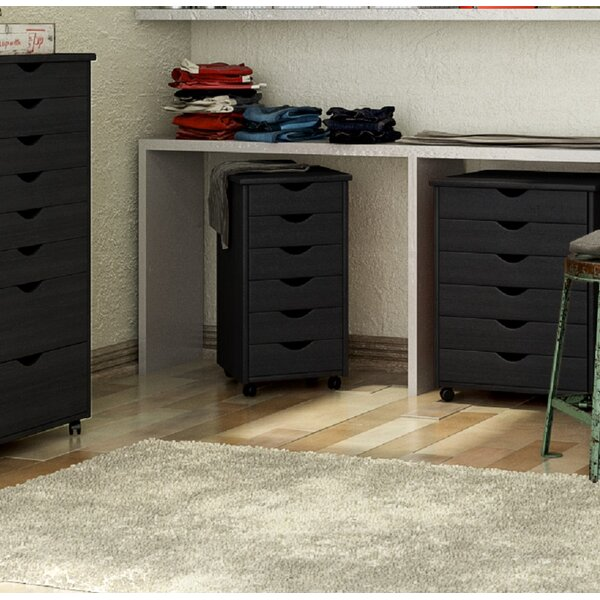 6-Drawer Roll Cart Vertical Filing Cabinet by Rebrilliant