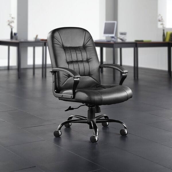 Big and Tall High-Back Leather Executive Chair by OFM