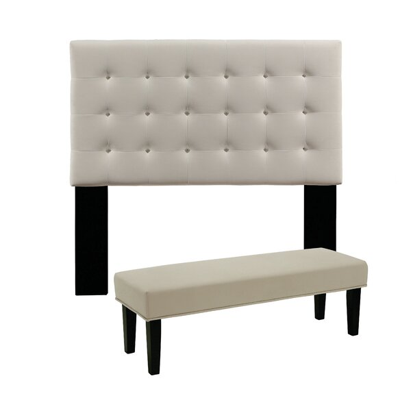 Ivette Upholstered Panel Headboard by Charlton Home