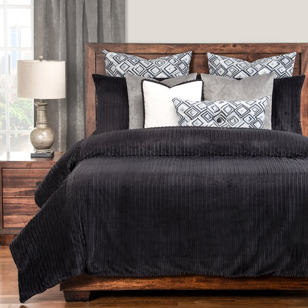 Palmdale Black Duvet Cover Set