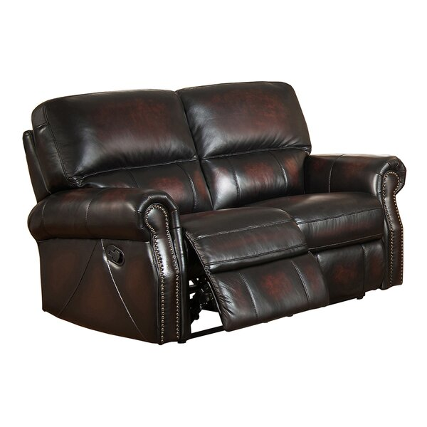 Nevada Leather Reclining Loveseat by Amax