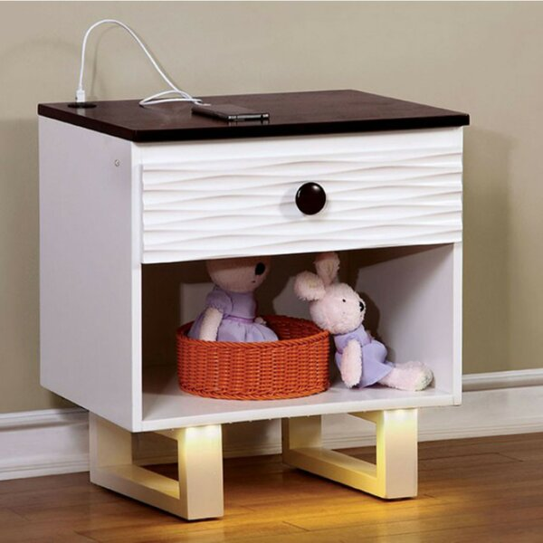 Brewster 1 Drawer Nightstand by Zoomie Kids