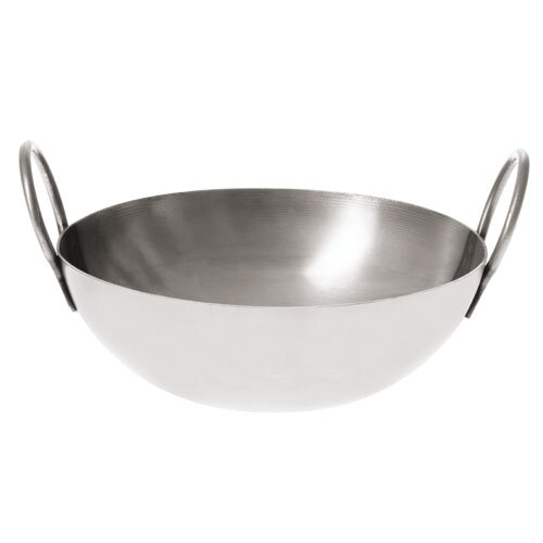 6 Stainless Steel Balti Pan by Paderno World Cuisine