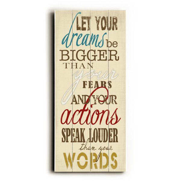 Let Your Dreams Textual Art by Latitude Run