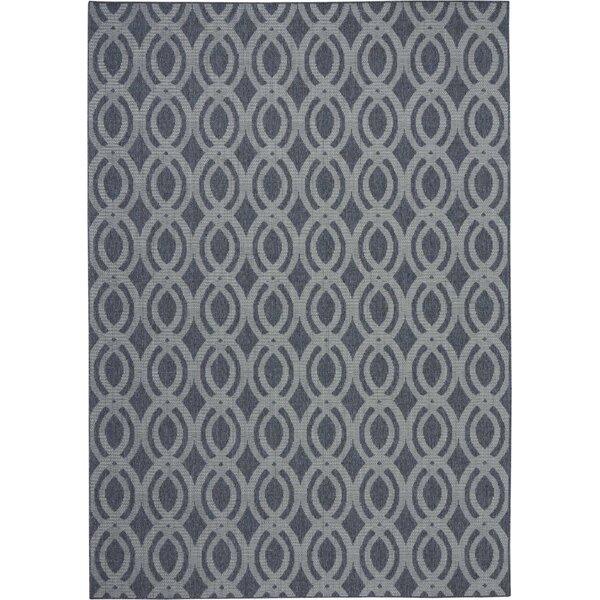Lawanda Trellis Slate Gray Indoor/Outdoor Area Rug by Wrought Studio