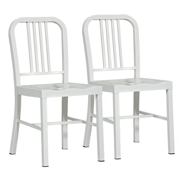 Cowart Metal Dining Chair (Set of 2) by Ebern Designs