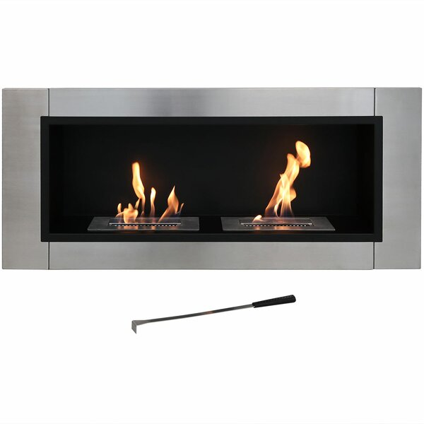 Prangins Ventless Wall Mounted Bio-Ethanol Fireplace by Orren Ellis