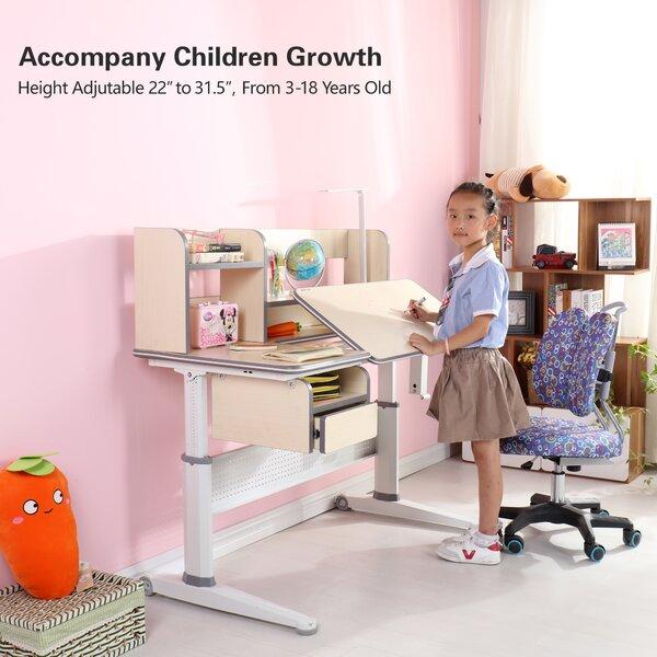 Artin 45.27 Writing Desk with Book Shelf Drawer by Zoomie Kids