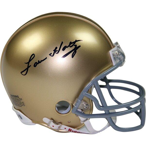 Lou Holtz Notre Dame Replica Mini Helmet by Steiner Sports