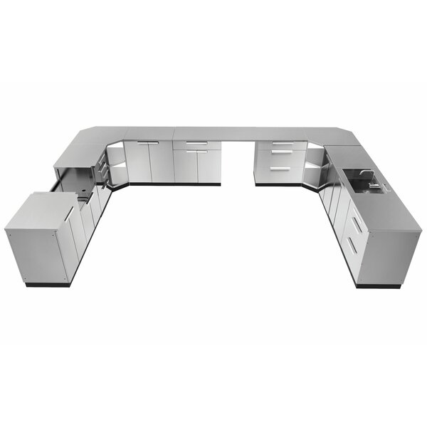 Outdoor Kitchen Set 441 W x 24 D 17 Pieces Stainless Steel Classic by NewAge Products