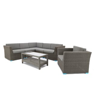 7 Piece Sofa Set with Cushions By Baner Garden