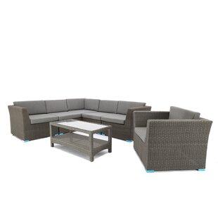 7 Piece Sofa Set with Cushions ByBaner Garden