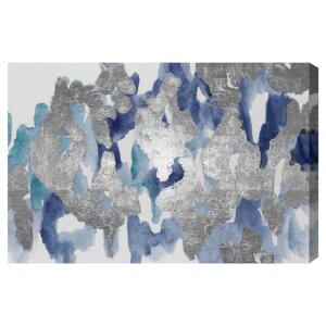 'Blue Palais' Print on Canvas by Oliver Gal