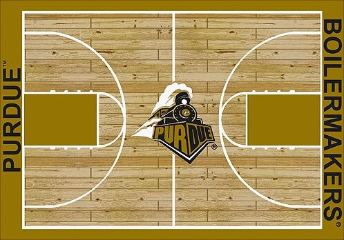 NCAA College Home Court Purdue Novelty Rug by My Team by Milliken