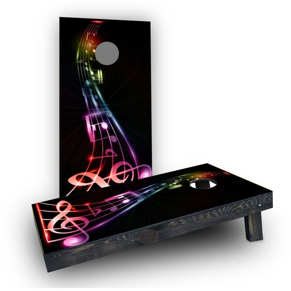 Music Notes Cornhole Boards (Set of 2) by Custom Cornhole Boards